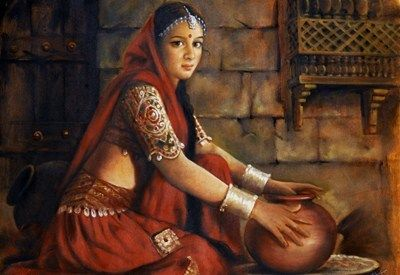 rajasthani ladies paintings - Google Search