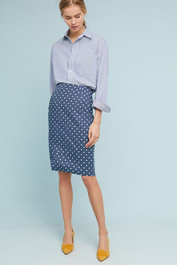 b3554fcc87 Like the polka dot pencil skirt, but needs to fit above the knee for me