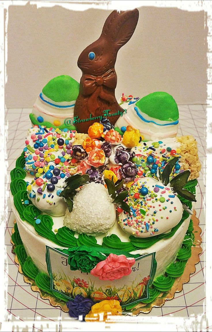 Easter bunny themed cake gourmet chocolate covered