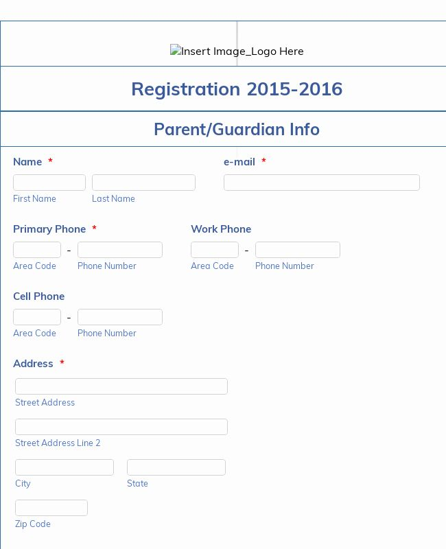 Class Registration Form Template Awesome Student Enrollment Form