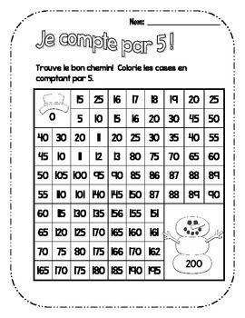 Les labyrinthes des chiffres! Pratiquer à compter par 5. #education