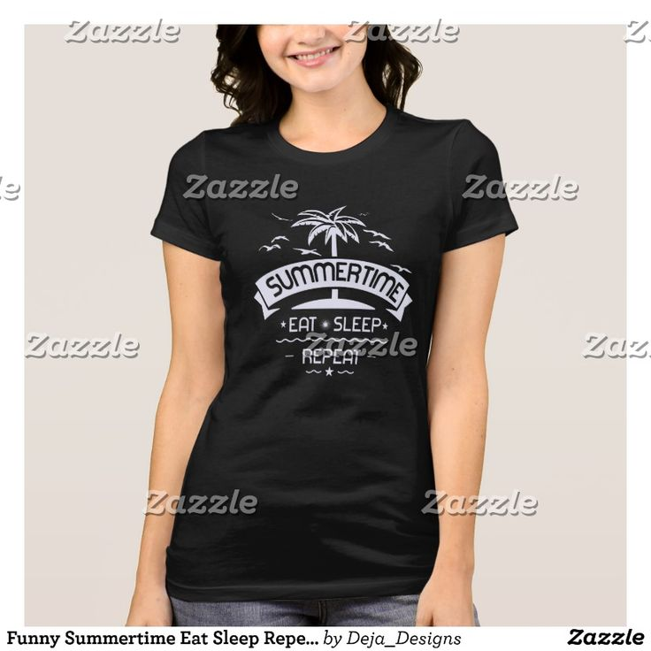 Funny Summertime Eat Sleep Repeat Summer T-Shirt