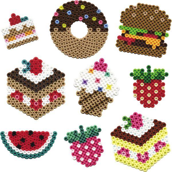 fruits, and grossery, hama beads