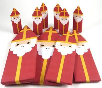 St Nicholas candy bar wrappers (printable)