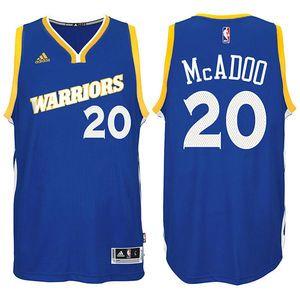 James Michael McAdoo Jersey: adidas Royal Stretch Crossover #20 Golden State Warriors NBA Swingman Jersey