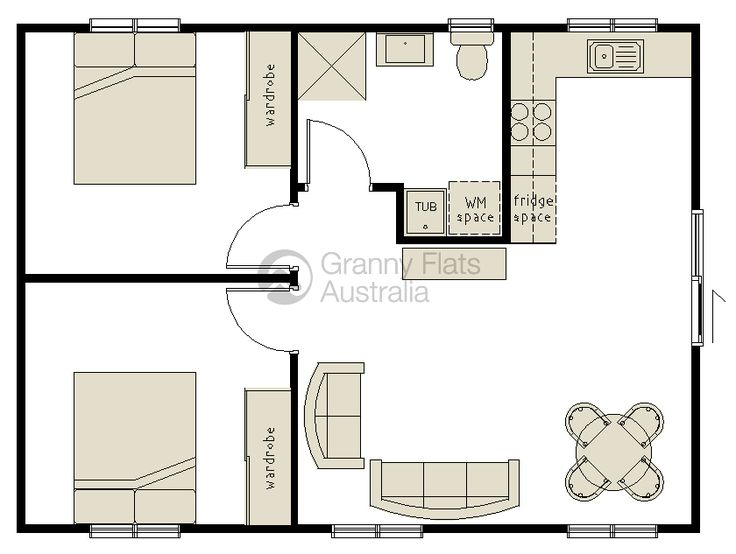 Converting A Double Garage Into A Granny Flat   Google Search. Granny Flat  PlansSmall House Floor ...