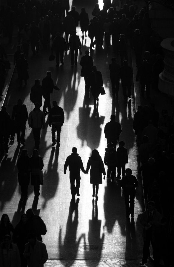 Shadows in black and white photography