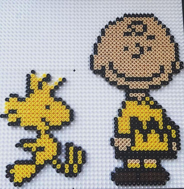 Charlie Brown and Woodstock hama beads by ju_moet