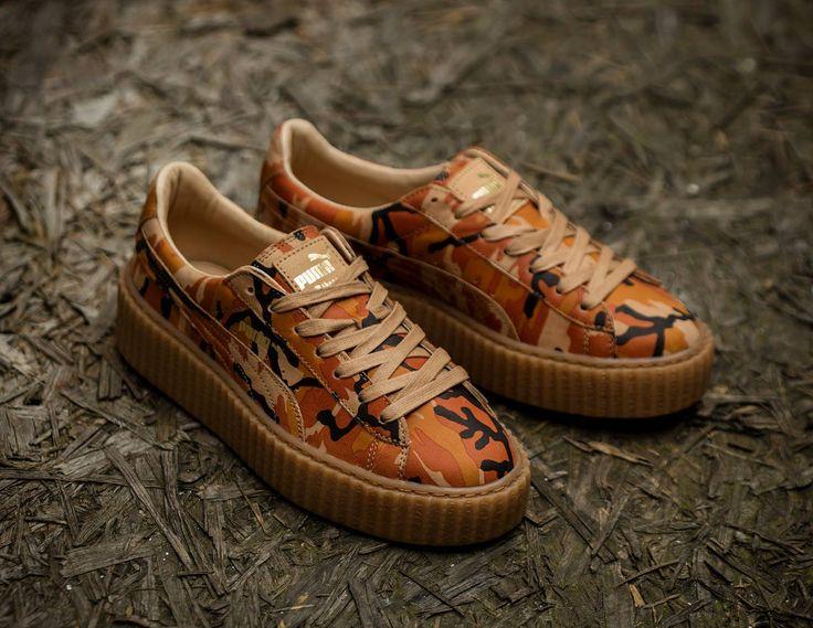 Fenty Rihanna x Puma Suede Creepers 'Orange Camo'