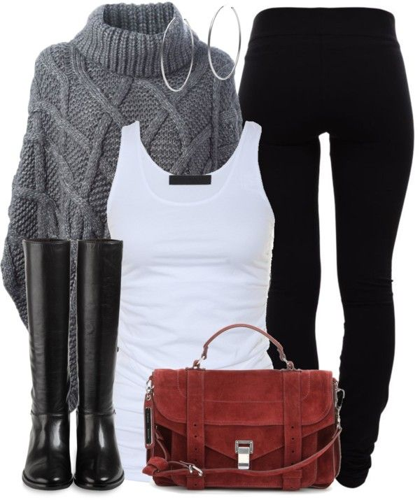 Casual fall outfit with leggings and poncho