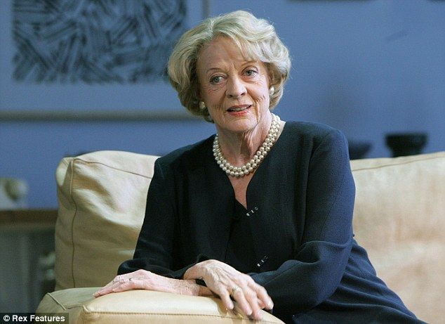 On stage: Maggie Smith as Elizabeth in The Lady From Dubuque at the Theatre Royal Haymarket 2007 (photo).  - Dowton Abbey Series creator Lord Julian Fellowes revealed earlier this year he would do everything in his power to keep Dame Maggie as part of the drama for as long as she is able.