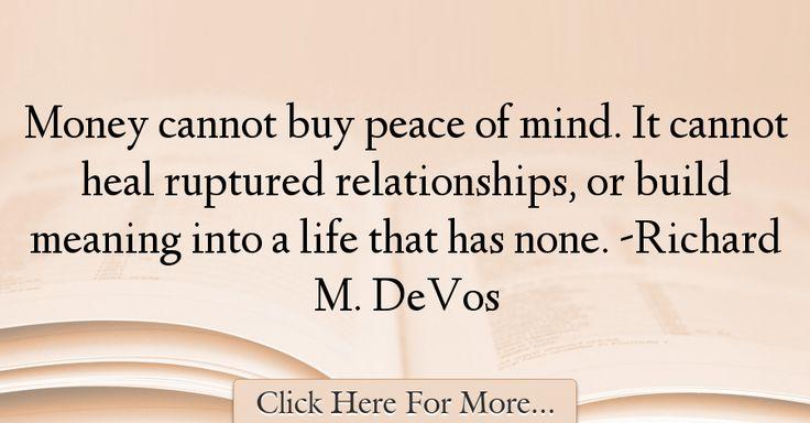 Richard M. DeVos Quotes About Money - 47387