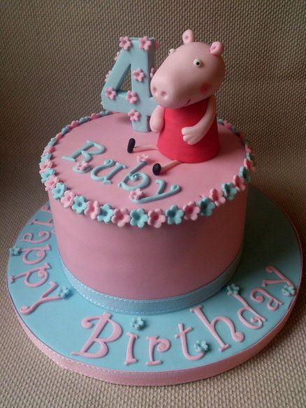 Peppa Pig Cake  Cake by dollybird