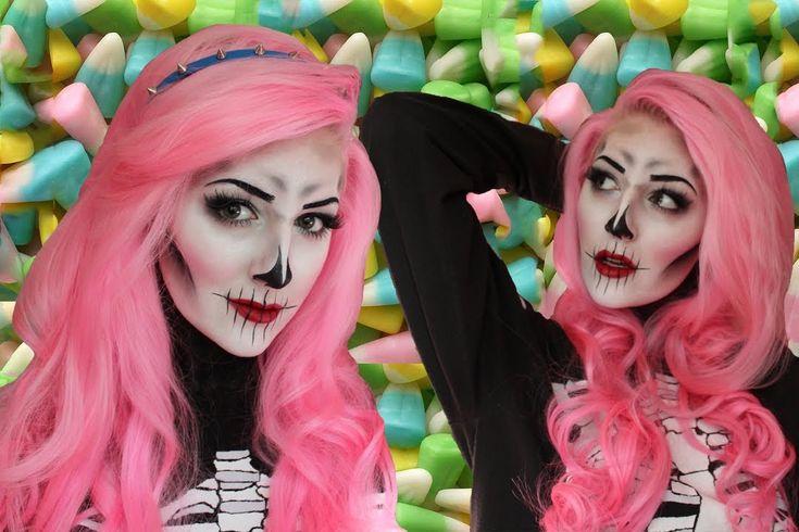 Cute/Creepy Skeleton Makeup for Halloween by albinwonderland