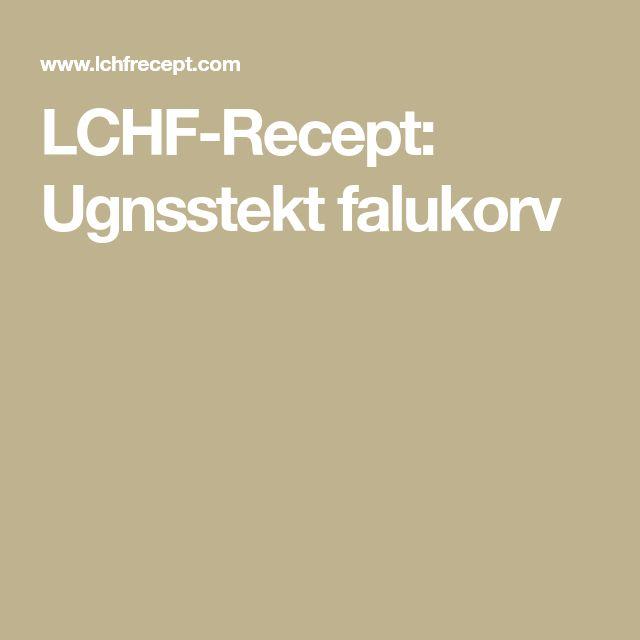 LCHF-Recept: Ugnsstekt falukorv
