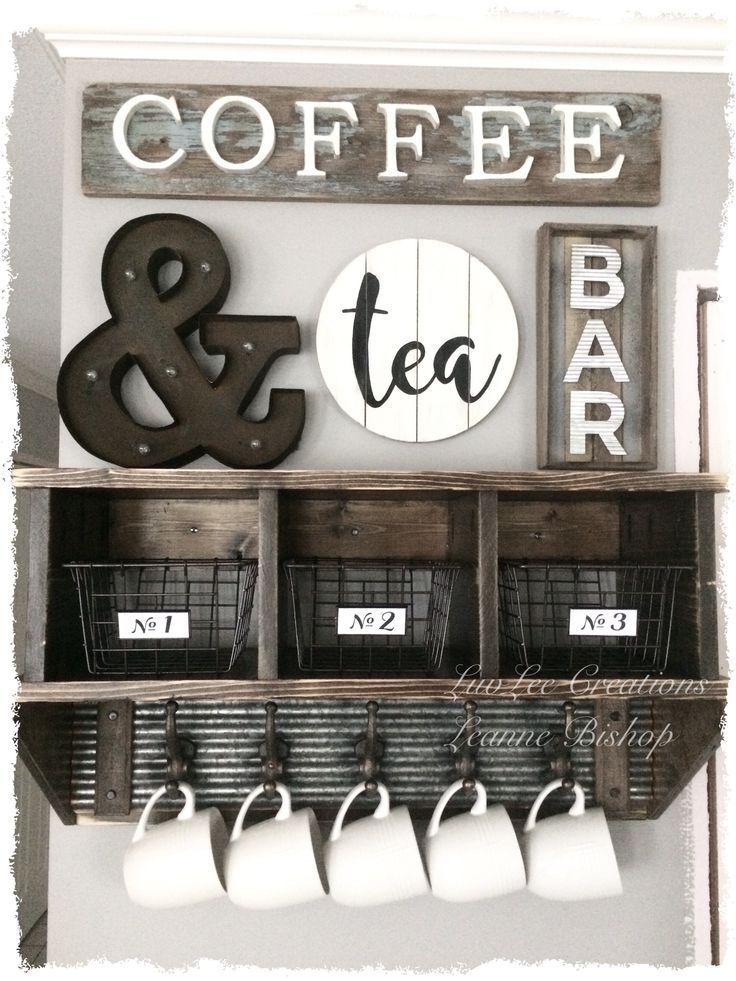 Here is a cubby shelf I made for my coffee bar. Be…