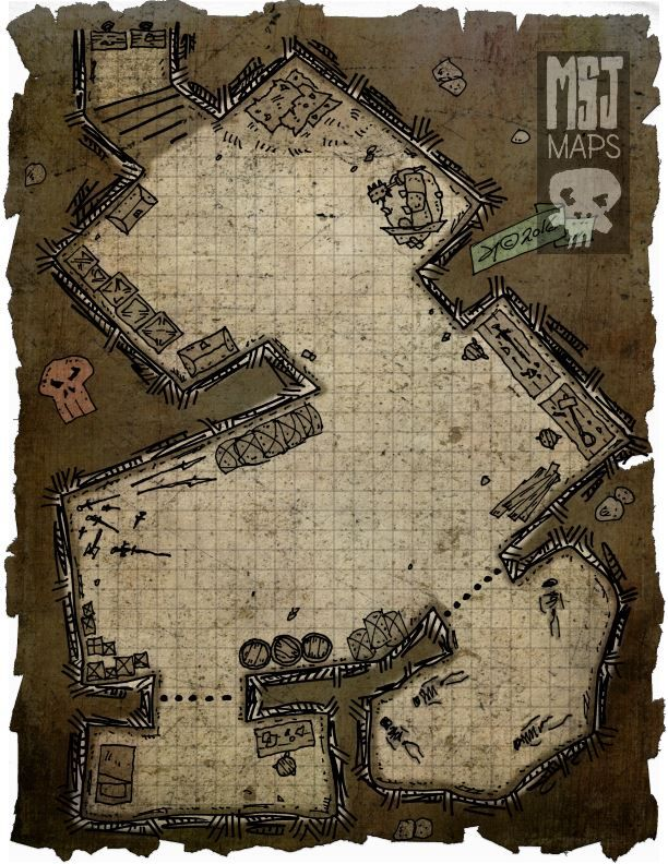 """dungeonsandcartoons:  """"269 Kidnapped #dnd #rpg #dungeon #fantasy #map  """""""