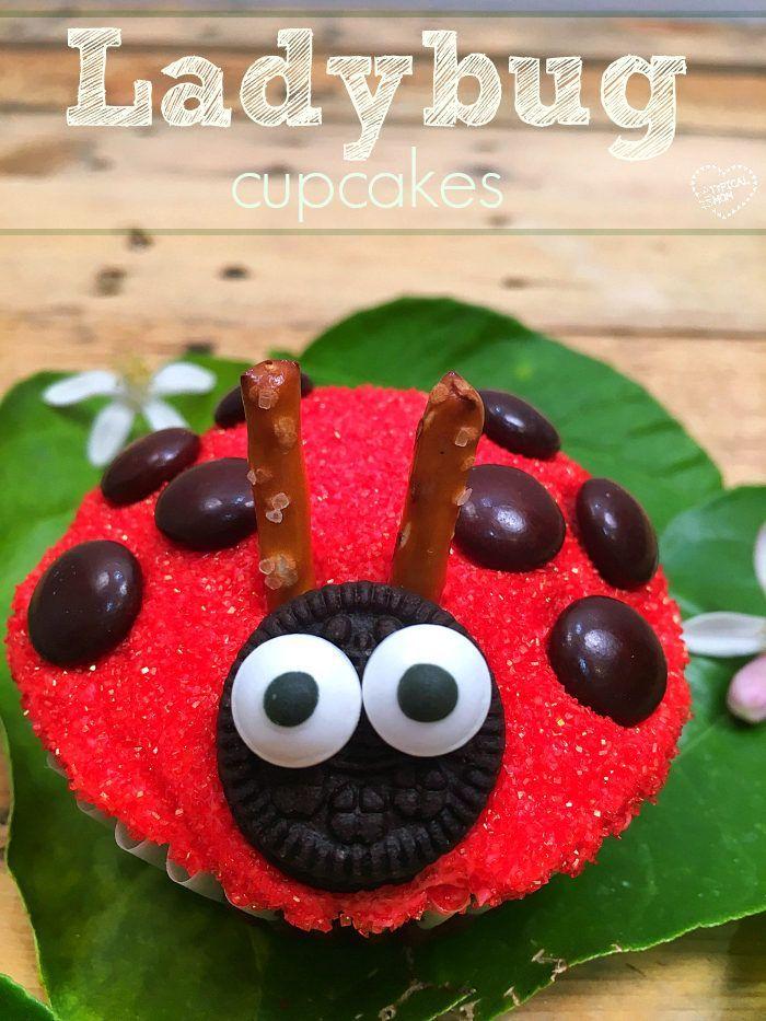 The cutest ladybug cupcakes ever!! SO easy to make and perfect for a first birthday dessert.