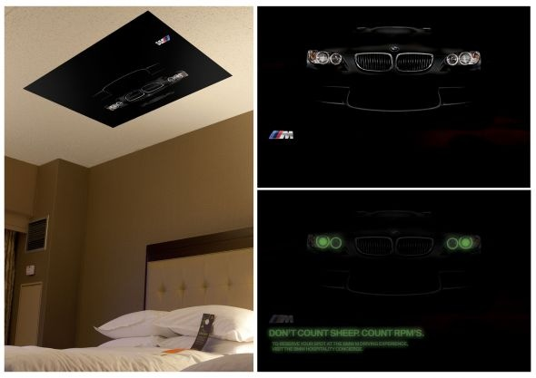 BMWGolf: In-room ceiling poster