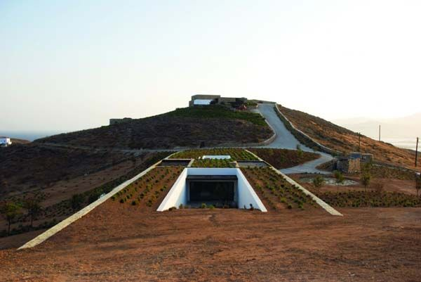 ...An underground home (Greece).