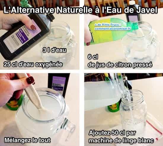 Fabriquez votre propre eau de Javel naturelle est extrêmement facile.