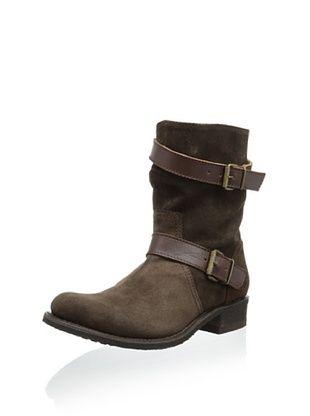 50% OFF Sendra Women's City Double Buckle Flat Boot (Chocolate)