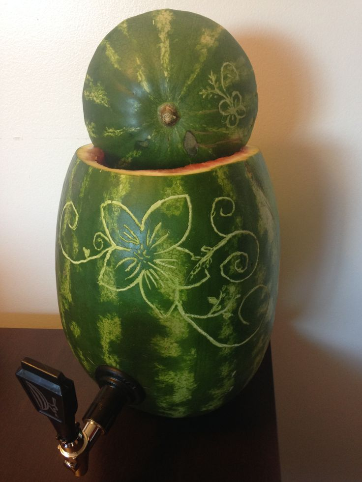 Carved Watermelon Drink holder