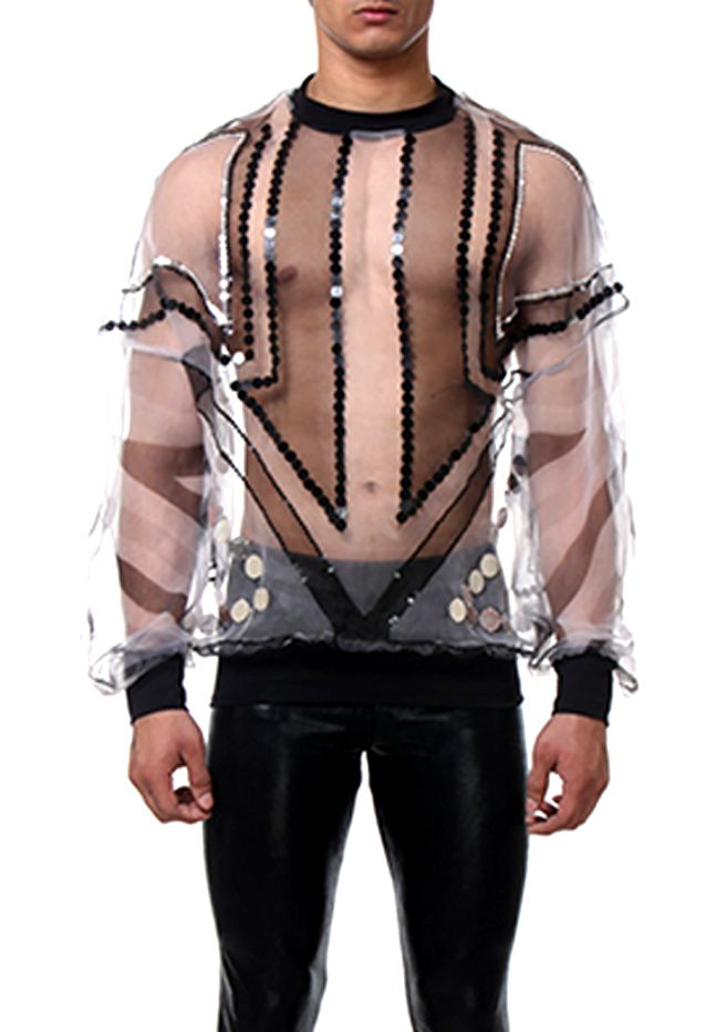 sweatshirt stripes transparent men style front www.rubengalarreta.com