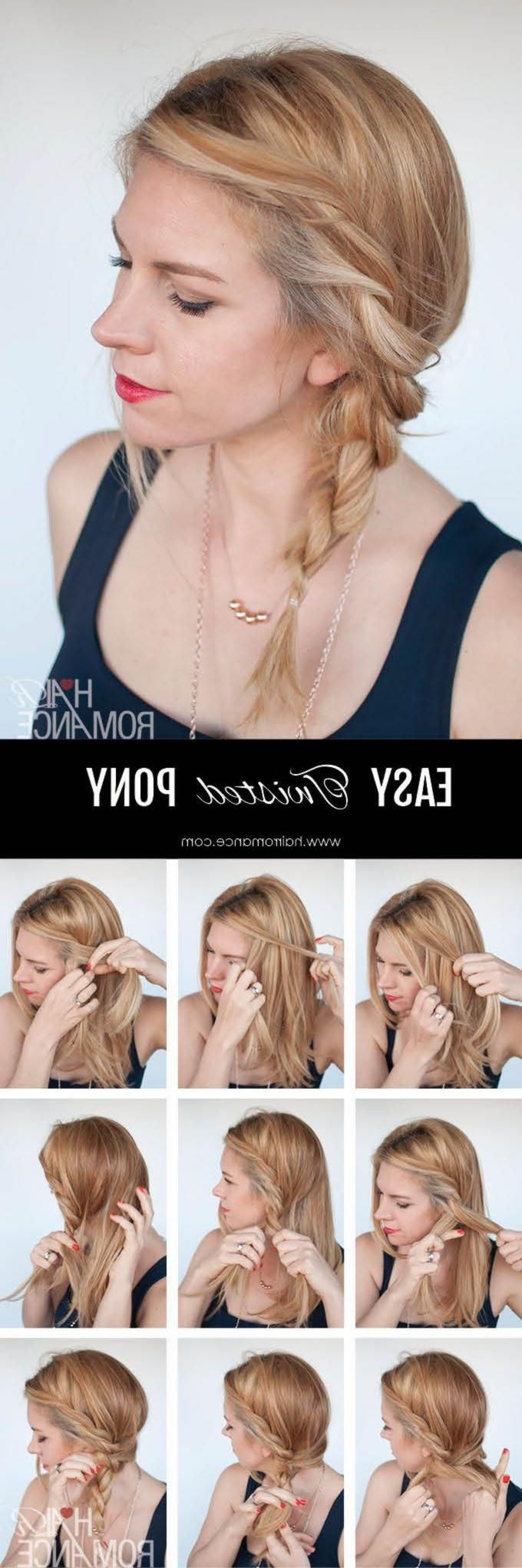 Visit for more It's Tuesday Tuesday! This simple twisted ponytail hairstyle tutorial is a funny twist on the side ponytail …