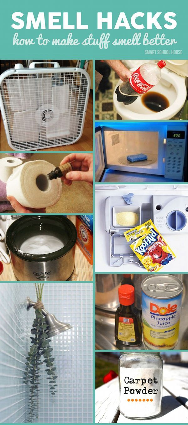 Smell Hacks! Try one of these genius DIY ideas in your home to banish the gross smells. #recipe #house #diy #hacks #smell