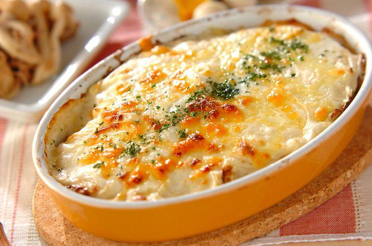 キャベツとひき肉のミルフィーユグラタンのレシピ・作り方 - 簡単プロの料理レシピ   E・レシピ