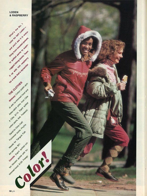 whitney houston modeling ym magazine 1981