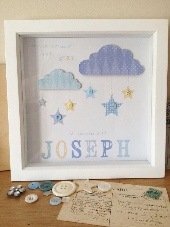 Framed+Personalised++handmade+picture+for+newborn+by+Rubycampion,+£35.00