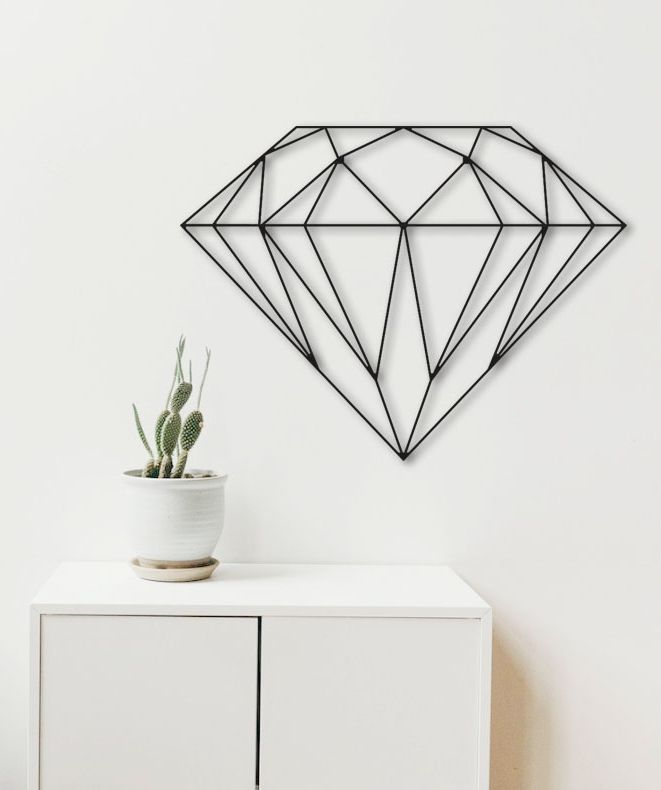 Diamond Metal Wall Art Bedroom Decor Sign