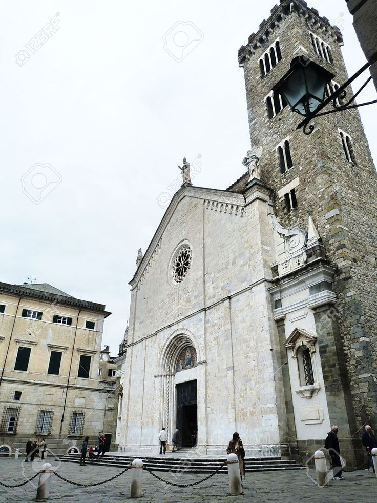 Italia, Sarzana, Facciata Della Della Cattedrale Stock Photo, Picture And Royalty Free Image. Pic 14720335.
