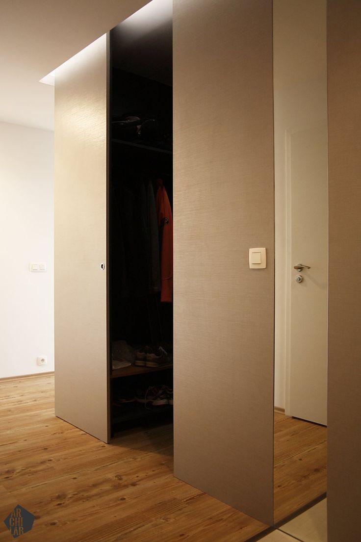 Návrh predsiene so šatníkom - interiér bytu Kadnárova, Bratislava - Interiérový dizajn / Hall interior by Archilab