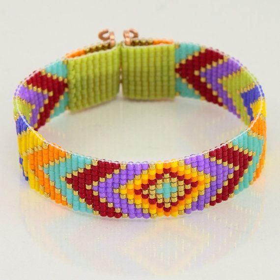 Gypsy Caravan perle Loom Bracelet bohémien Boho par PuebloAndCo