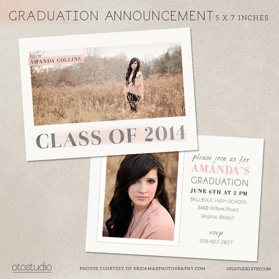high school graduation announcements templates