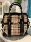 Authentische Burberry House Check Handtasche Exell Cond #WomenBag