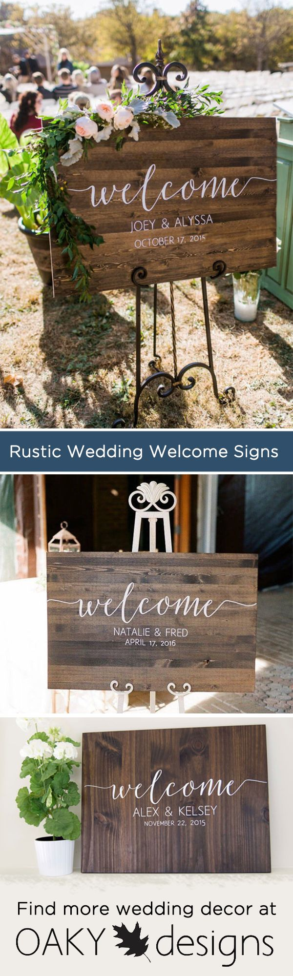 This classy wooden welcome sign will make a beautiful personalized touch to your wedding or event. This listing comes with 1 sign in the measurement and stain of your choice with the lettering in white. We invite you to come visit our store and find more beautiful options for your wedding decor!