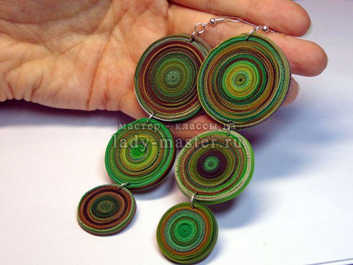 Изысканное ожерелье и серьги своими руками из полимерной глины, фото