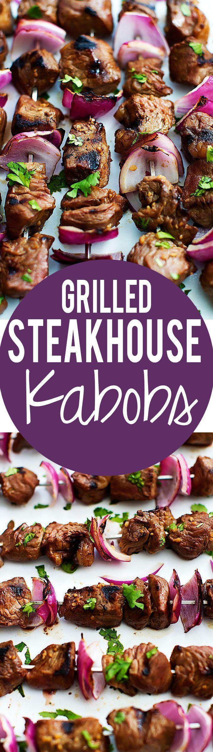 Grilled Steakhouse Kabobs | Creme de la Crumb