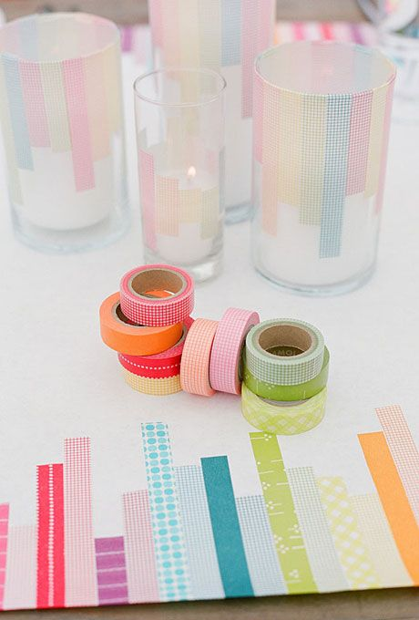 colorful DIY table runner