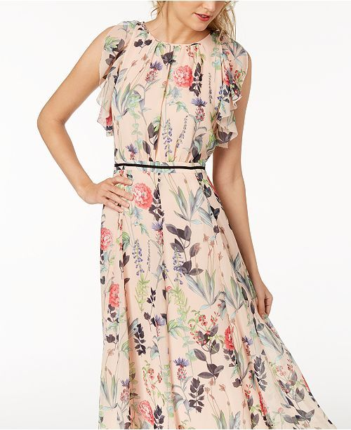 fad6e8be5 Tommy Hilfiger Floral-Print Maxi Dress | Print 2018 in 2019 | Floral ...