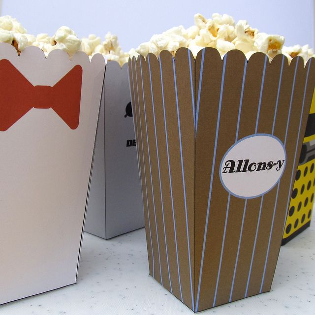 For when we have our Doctor Who marathon party: Doctor Who Popcorn Holders. Dibs on 10!