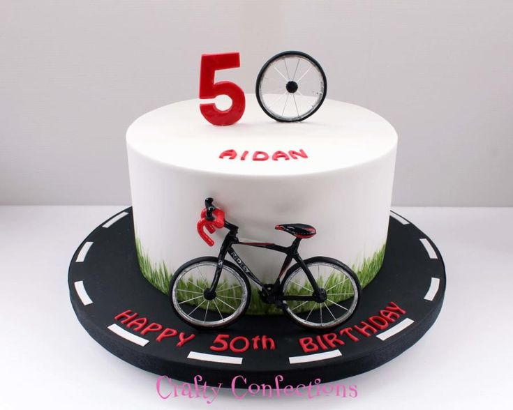 Cyclist birthday cake by Kelly Cope