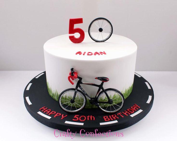 Cyclist birthday cake by Kelly Cope
