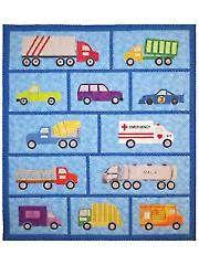 Applique Lap Quilt Patterns - Just Trucks Quilt Pattern