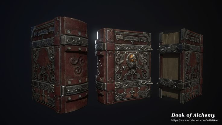 ArtStation - The Book of Alchemy - 3D game model, Marcin Cecot