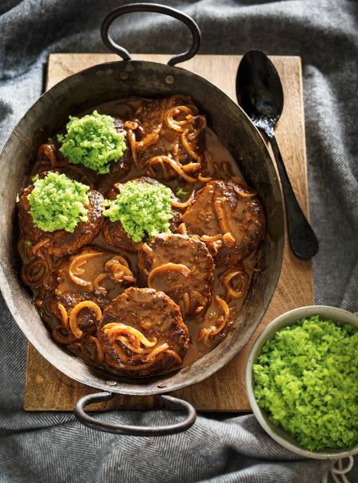 <i>Hamburger steak</i> et gremolata de brocoli